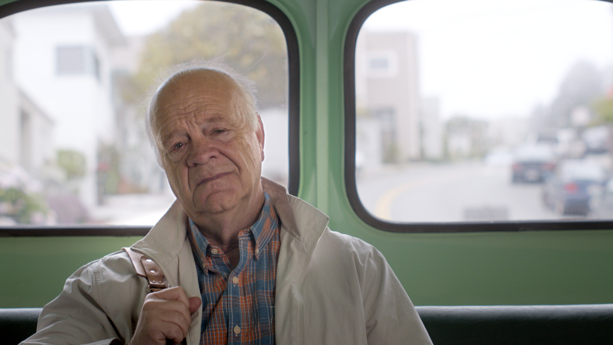 Joel on a bus. Youth, a short film coming in 2016. Starring Jessica Stroup and George Maguire, directed by Brett Marty. A sci-fi film about growing old in a world of perpetual youth.