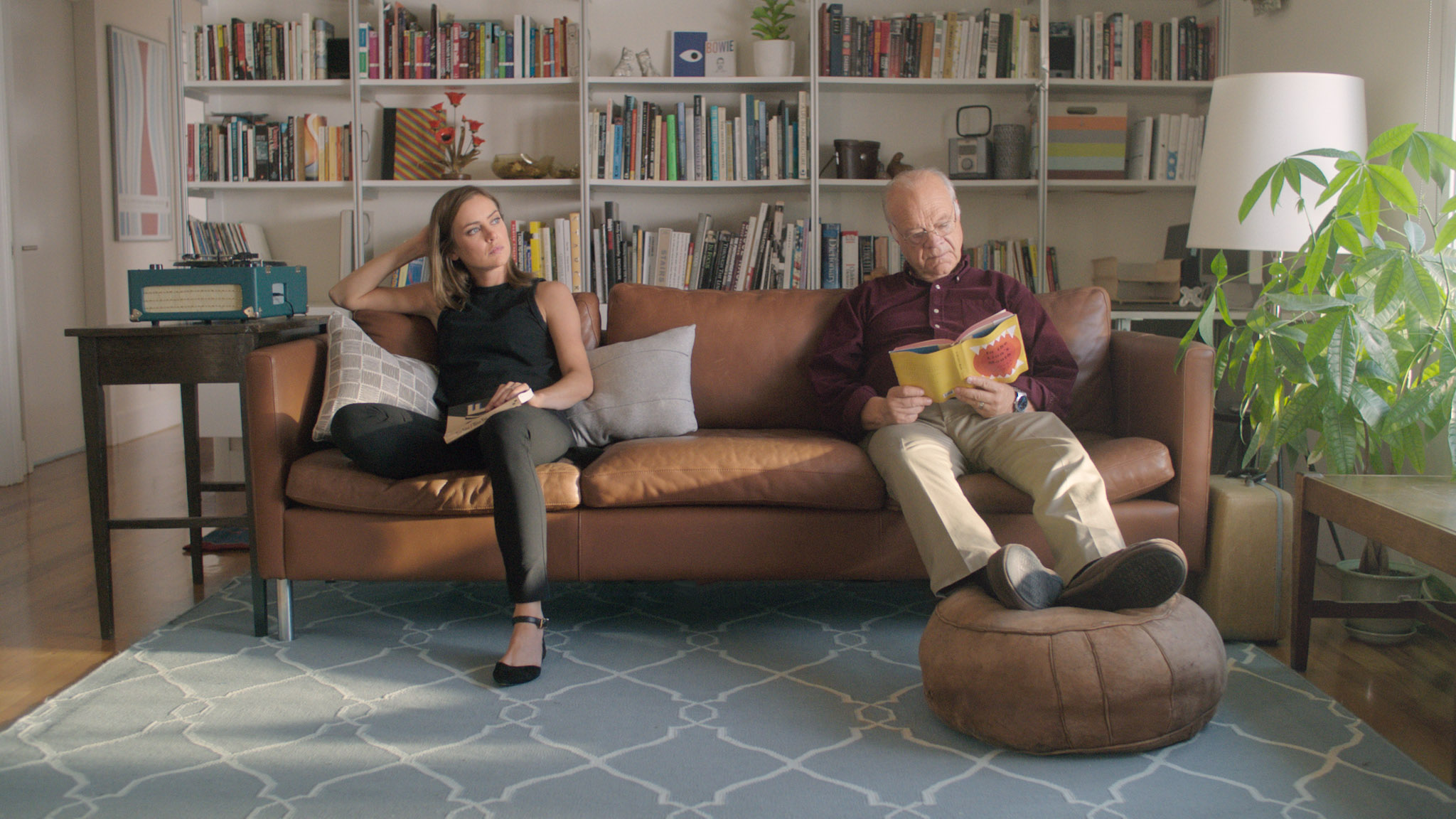 Alice & Joel on the couch. Youth, a short film coming in 2016. Starring Jessica Stroup and George Maguire, directed by Brett Marty. A sci-fi film about growing old in a world of perpetual youth.